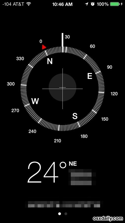 iPhone compass