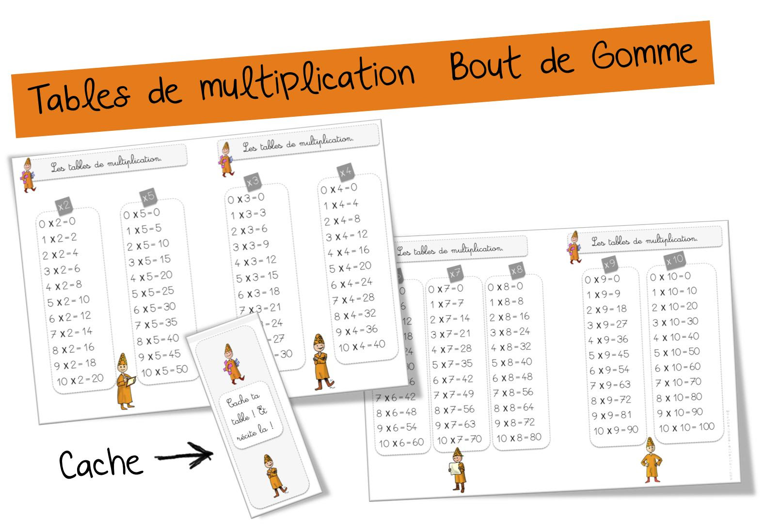 Tables De Multiplication Bout De Gomme