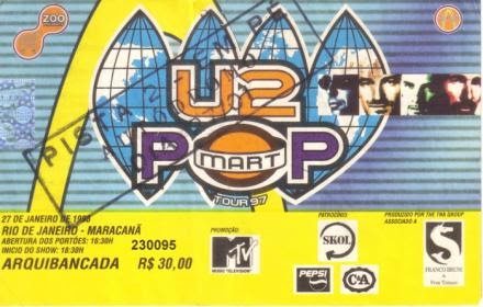Relembre shows do U2 no Brasil
