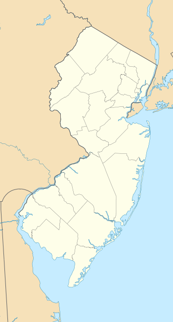 Location map of New Jersey, USA