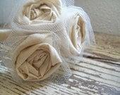Natural Cotton Flower Girl Headband