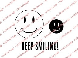 Visible Image Keep Smiling smiley face stamp set