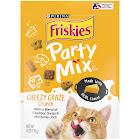 Purina Friskies Cat Treats Party Mix Cheezy Craze Crunch - 6oz Pouch