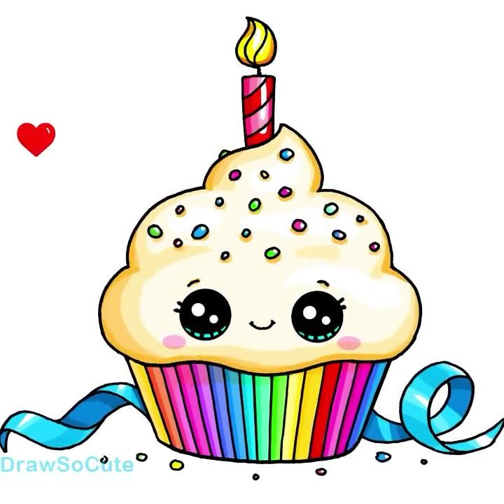 Draw So Cute Birthday Cake