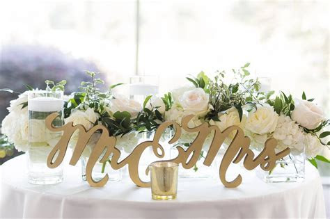 Connected Mr & Mrs Table Sign in 2019   Wedding Decor