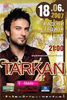 Promotional poster for Tarkan's Skopje concert