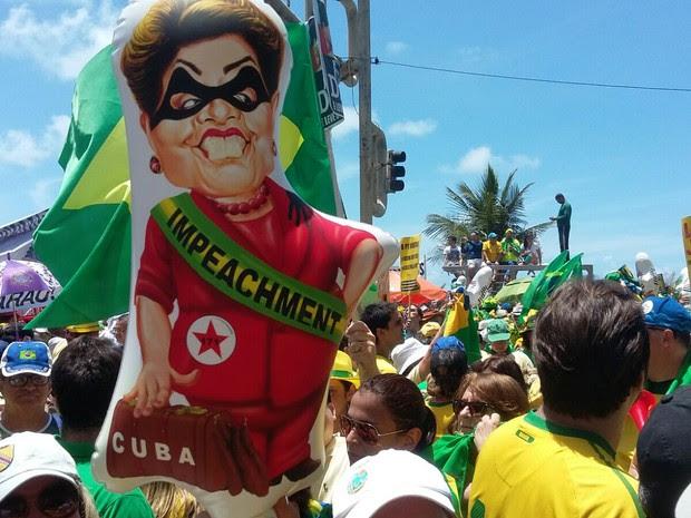 Protesto contra Dilma no Recife (Foto: Bruno Marinho)