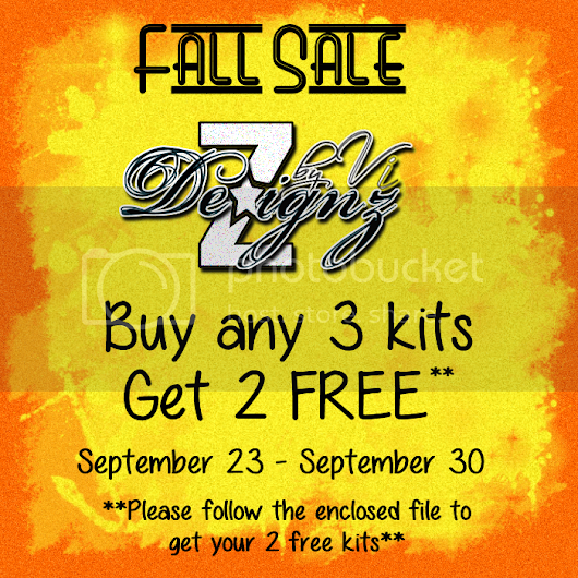 **CT AD Fall Sale by Dezignz By Vi**