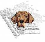 Polish Hound Dog Scrollsaw Intarsia or Yard Art Woodworking Pattern - fee plans from WoodworkersWorkshop® Online Store - Polish Hound Dogs,pets,animals,dog breeds,yard art,painting wood crafts,scrollsawing patterns,drawings,plywood,plywoodworking plans,woodworkers projects,workshop blueprints