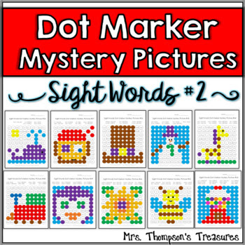 Dot Marker Sight Words Mystery Picture Activities SET 2