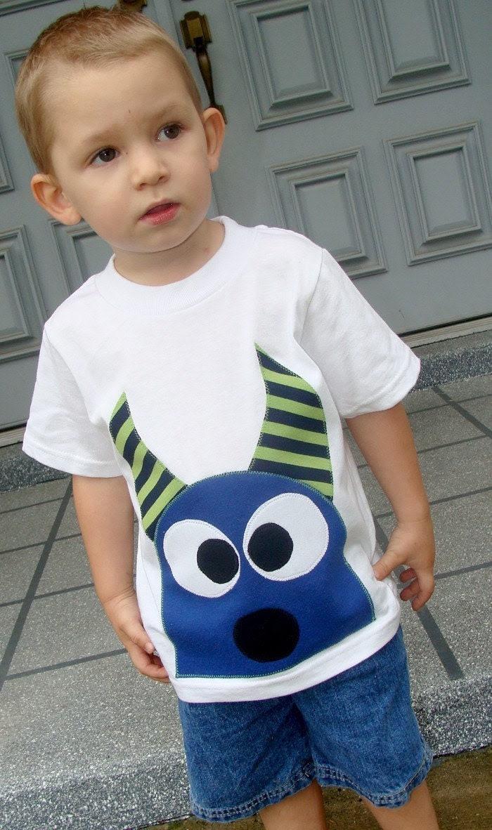 Ezeeke The Monster Boys Custom Applique Tshirt