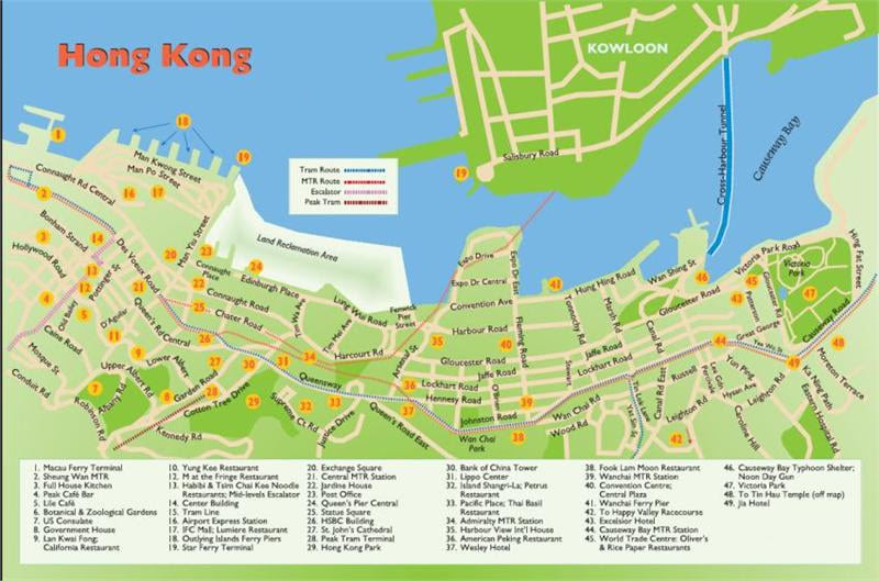 Hong Kong Tourism Travel Destinations Attractions Hotels Resorts Streets Subway Map,Travel Map of Hong Kong,Things to do in Hong Kong,Overland Kunming to Hong Kong Victoria Peak Horse racing Ping Shan Heritage Trail Tien Tan Buddha Statue Po Lin Monastery Stilt houses in Tai O Kowloon Walled City Park Temple of Ten Thousand Buddhas Man Mo Temple Che Kung Temple Fu Shin Street Traditional Bazaar Tsang Tai Uk Hong Kong Museum of History International Hobby and Toy Museum Hong Kong Museum of Art Hong Kong Science Museum Lantau Island The Sai Kung Peninsula Hong Kong Wetland Park Yan Chau Tong Marine Park Tung Lung Island Tap Mun Ping Chau Cheung Chau Lamma Island Hong Kong Disneyland Resort Ocean Park Hong Kong Ngong Ping 360 Location Map