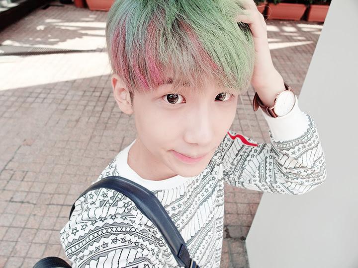 typicalben faded rainbow hair
