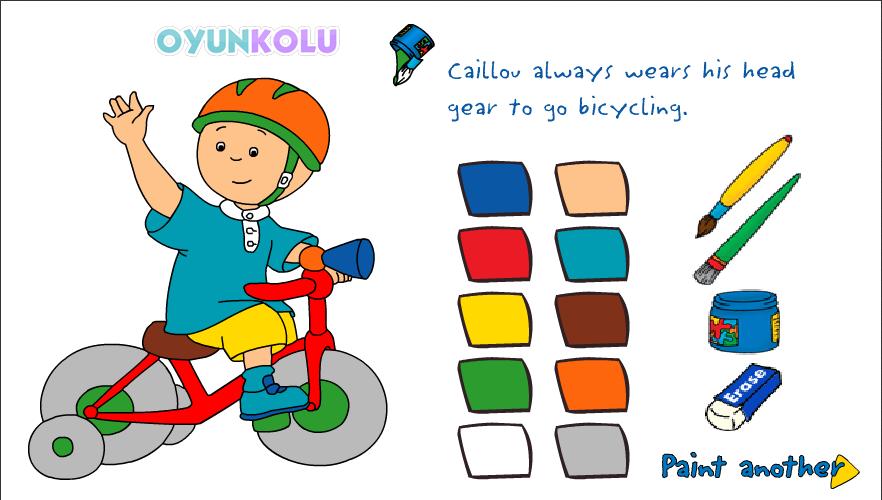 Caillou Boyama Boyayın Ya Da Baştan Yaratın Oyun Kolu Blog