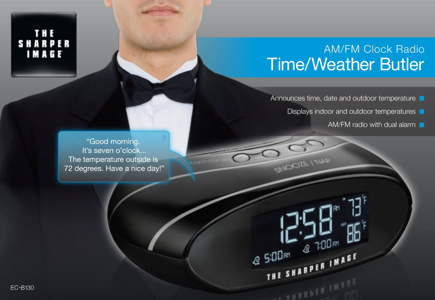 The Sharper Image Amfm Clock Radio