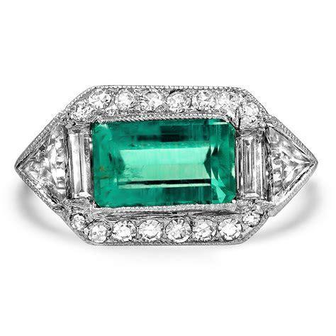 Art Deco Emerald Vintage Ring   Sedlow   Brilliant Earth