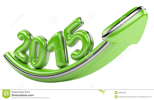 3D Arrow With Year 2015 Growth Upward Stock Illustration - Image: 46881882
