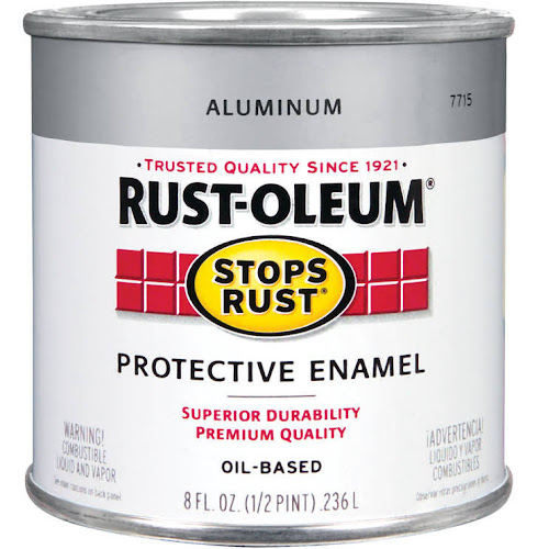 Rustoleum Stops Rust 7715 730 1 2 Pint Aluminum Protective