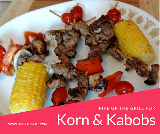 Chicken and Beef Kabobs on the grill