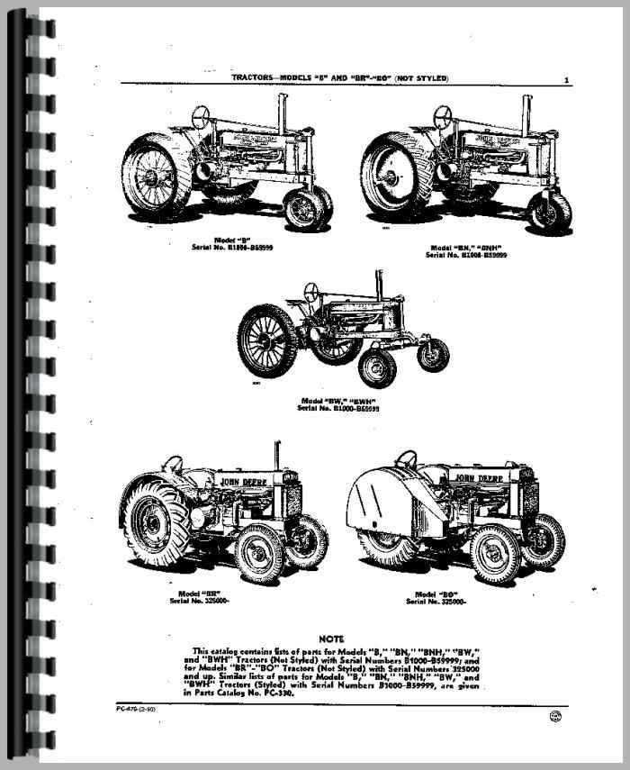 John Deere B Parts Diagram