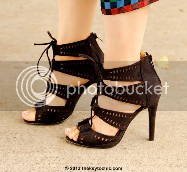 Charlotte Russe black laser cut heels