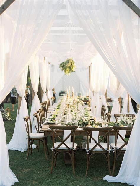 Wedding Ideas: No Tablecloths on Reception Tables   Inside