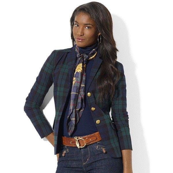 LAUREN RALPH LAUREN Petite Tartan Plaid Wool Jacket ($149) found on Polyvore