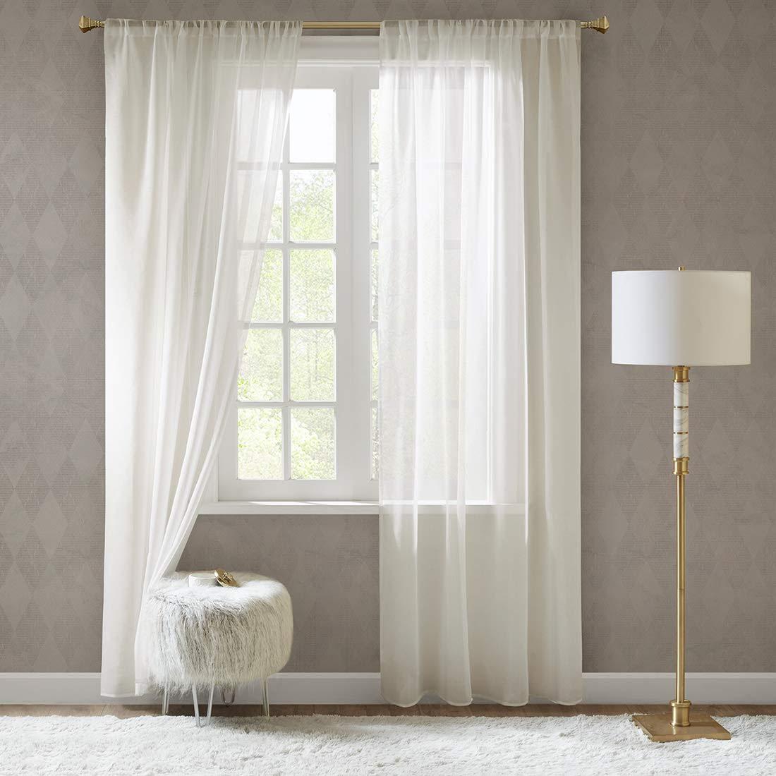 vorhänge schlafzimmer wohnzimmer braun tapete gardinen