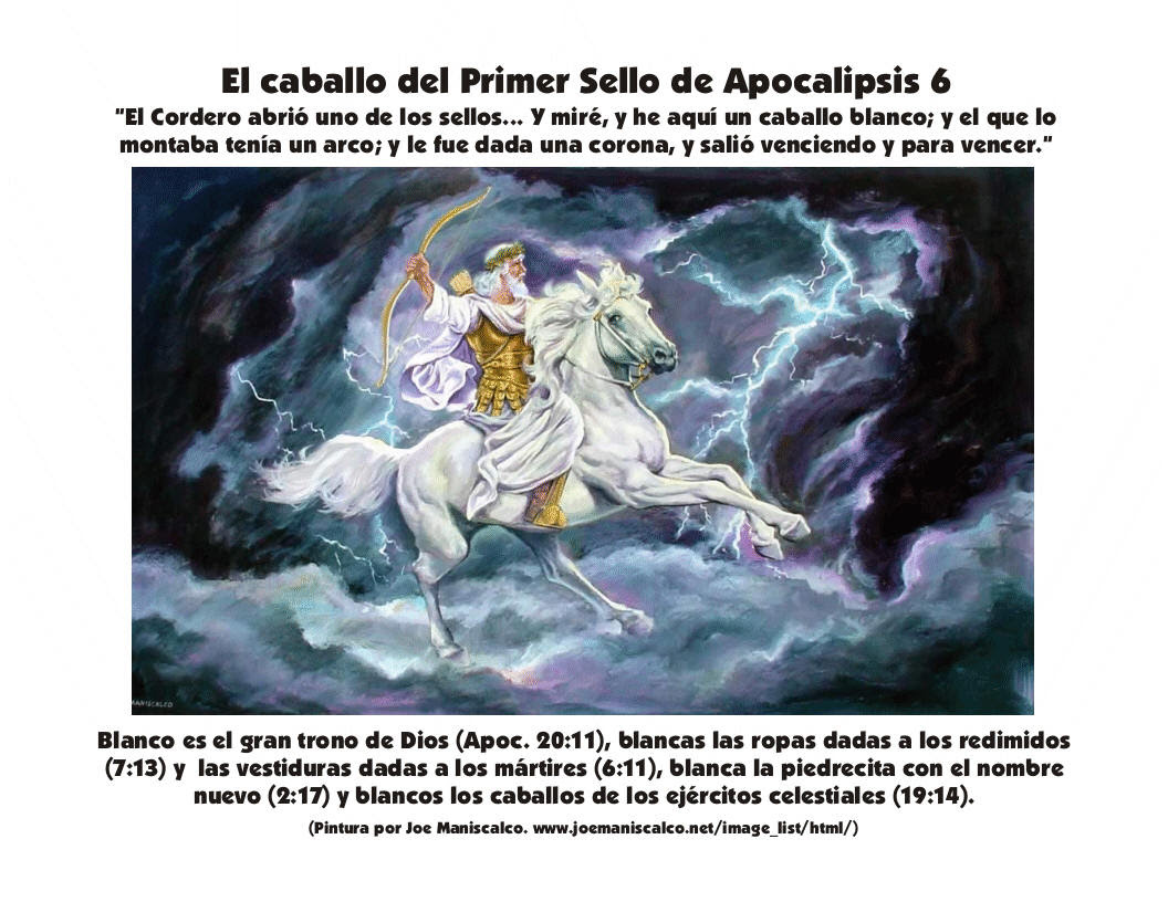 Primer Sello De Apocalipsis Sale Un Caballo Blanco Cuyo Jinete