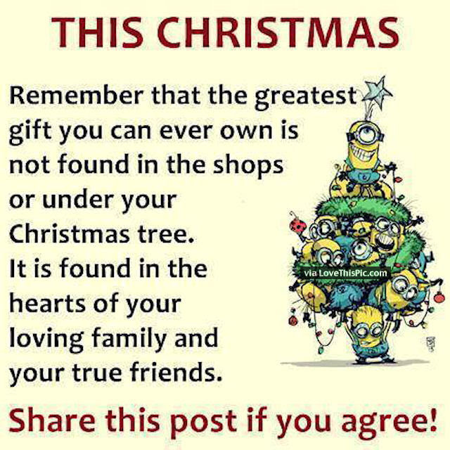 Christmas Minion Quote About Family And Friends Pictures ...