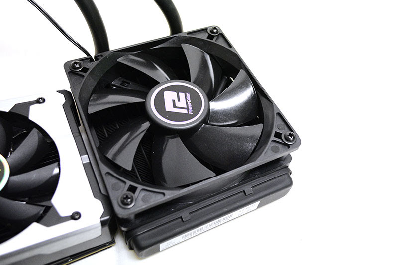 The radiator fan can be detached so you can install your own fan if you wish.
