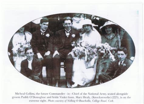 Michael Collins at the wedding of Paddy O'Donogue, 1919