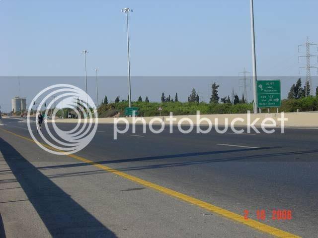כביש החוף הישן, ליד צומת רעננה-כפר-סבא