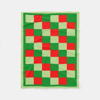 Red and Green Fleece Blanket