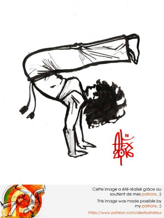 capoeira illustration 0984 par AlexIllustrateur sur Etsy