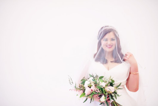 A Rose Gold Plus Size Bridal Styled Shoot in the North West