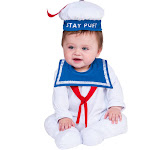 Infant Stay Puft Man Ghostbusters Costume