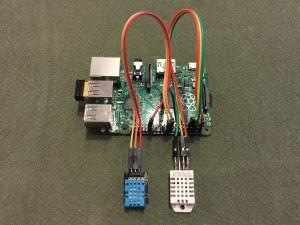 Sensores DHT11 y DHT22 conectados a la Raspberry Pi