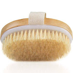 Dry Brushing Body Brush - Exfoliating Brush - Natural Bristle Dry Brush for Remove Dead Skin Toxins Cellulite,Treatment,Improves Lymphatic Functions,