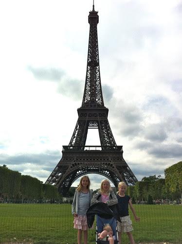 Eiffel Tower. Girls