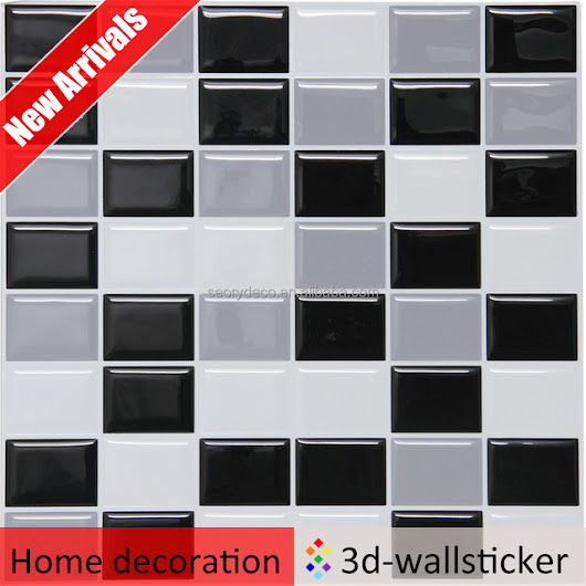 Crystal soft vinyl component peel and stick application amazing mosaic tile