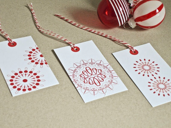 Sketch pen, Silhouette, project idea, gift tag, Christmas