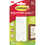 Command Large Picture Hanging Strips, Large, White - 4 count