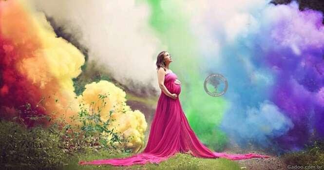 Após sofrer 6 abortos, mulher se submete a linda sessão de fotos de sua nova gravidez