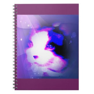 snowshoe paint by numbers kitty spiral note book