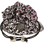 Hadaki Jewelry Sack Black & White