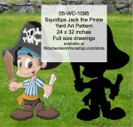 Squidlips Jack the Pirate Yard Art Woodworking Pattern - fee plans from WoodworkersWorkshop® Online Store - pirates,childrens,kids,swords,childs,buchaneers,Halloween,yard art,painting wood crafts,jigsawing patterns,drawings,jig sawing plywood,plywoodworking plans,woodworkers projects,workshop blueprints
