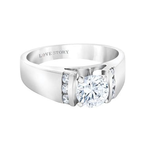 Greenberg's Jewelers: Love Story Wide Band Engagement Ring