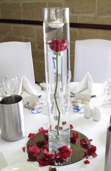 Wedding Decoration Cylinder Vase 18x4 Simple Centrepieces