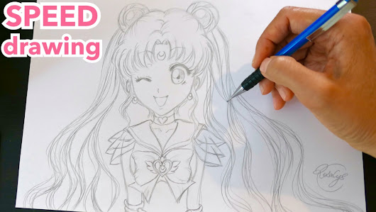 ▶ SPEED DRAWING #1 | SailorMoon | fan-art manga